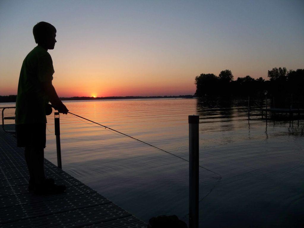 sunset fly fishing