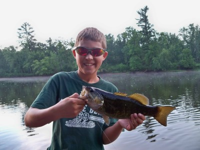 Braden caught this smallmouth on his Braden's Crayfish fly
