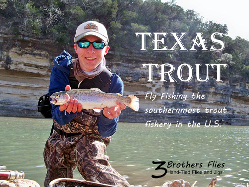 Articles 3 brothers flies for Trout fishing in texas