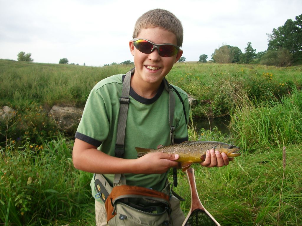 Another trout on a hopper