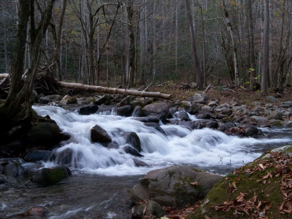 waterfall shot in the Little River watershed Smoky Mountains
