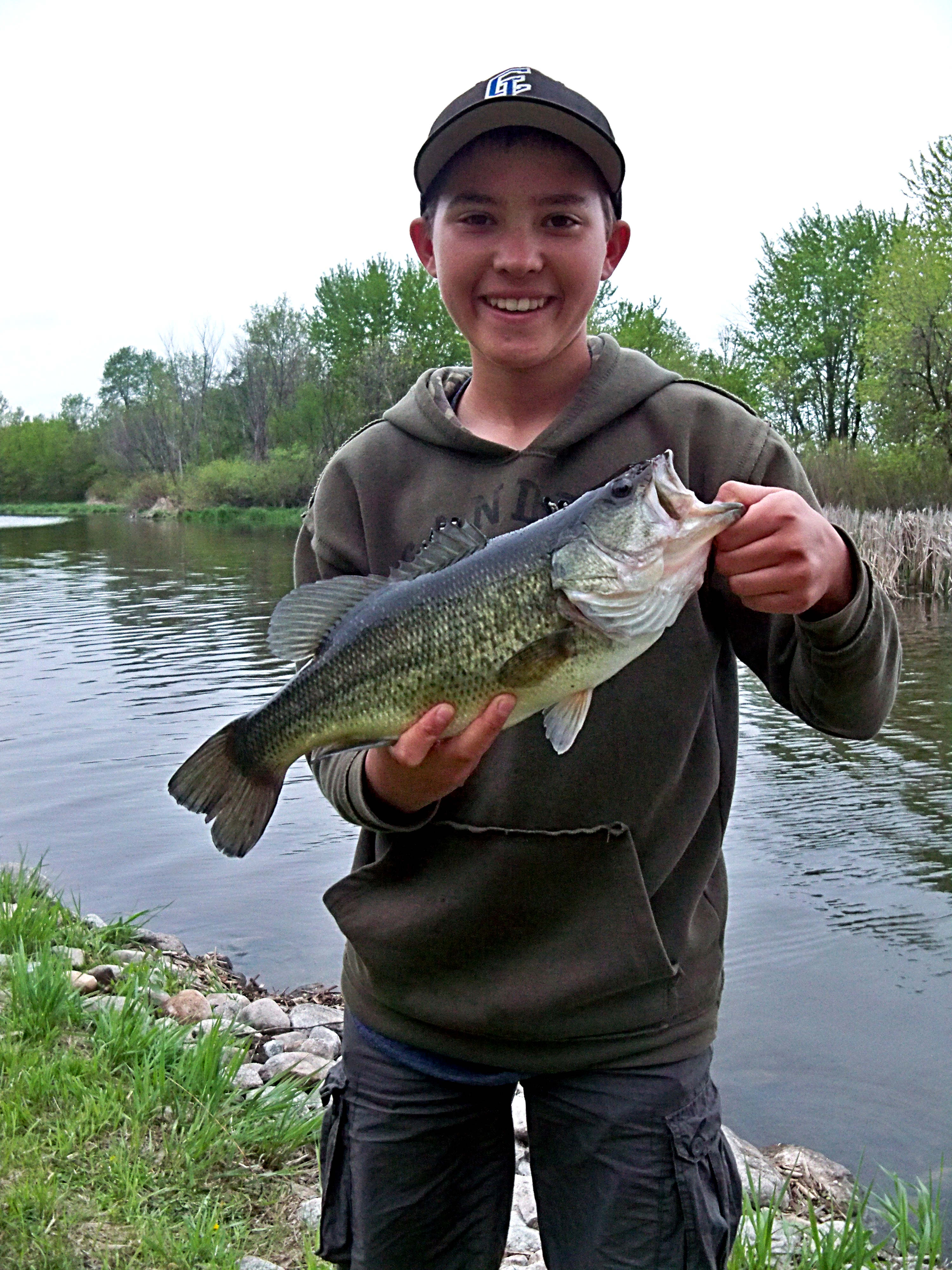 Braden's bass up at the lake