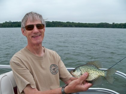 Grandpa caught this nice crappie while trolling for walleyes