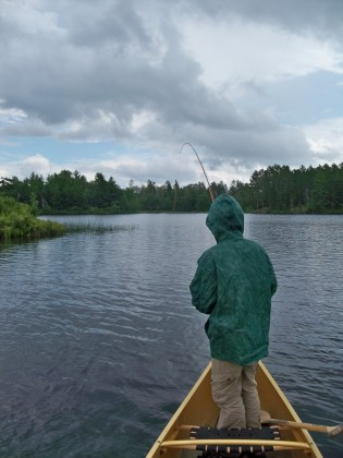 Fighting a bwcaw pike on the fly