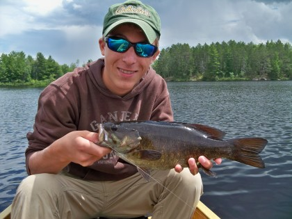 Boundary Waters bronzeback on the fly