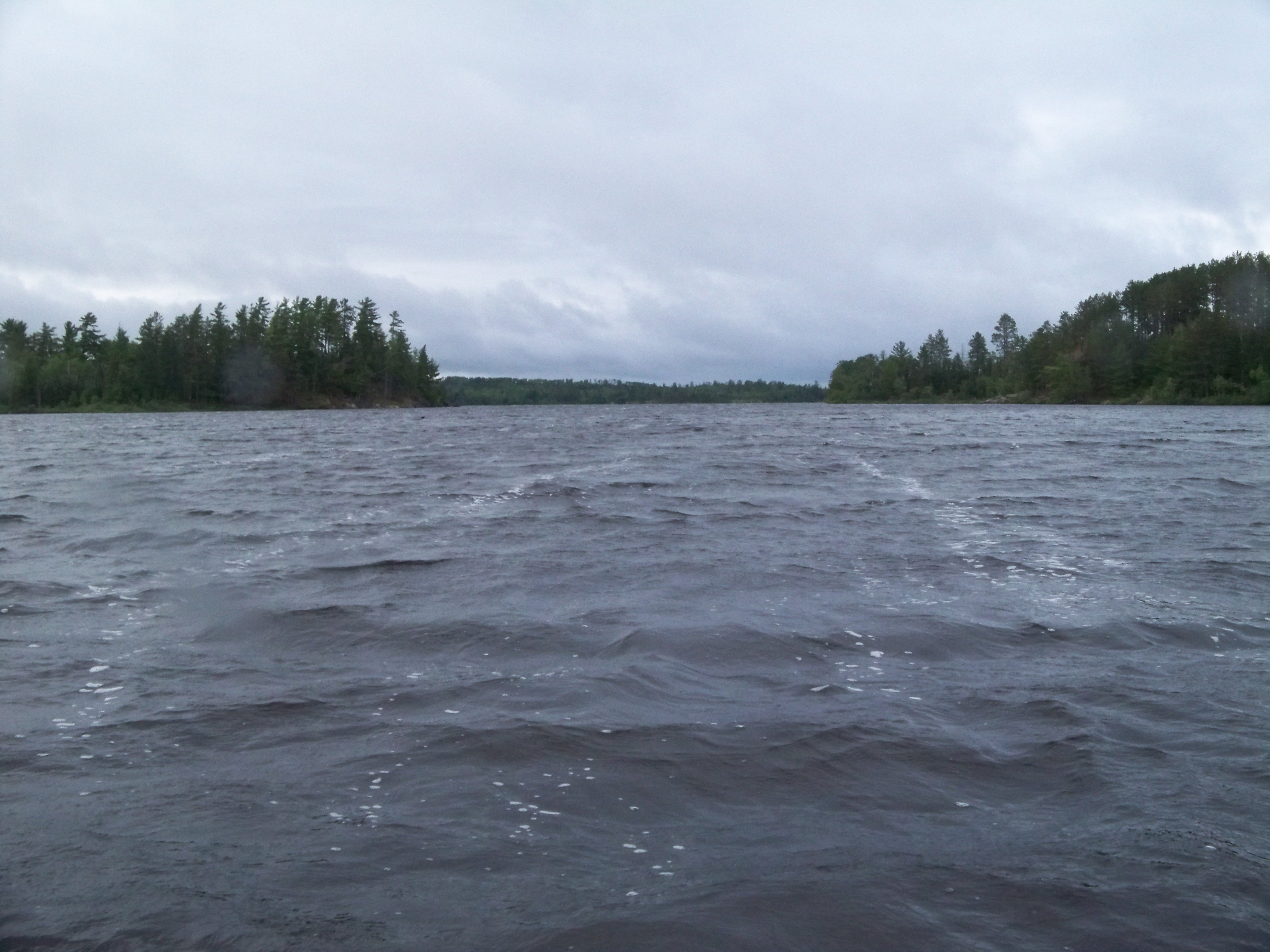 About forty degrees F and 20 mph gusts in the BWCAW...so we went fishing.....