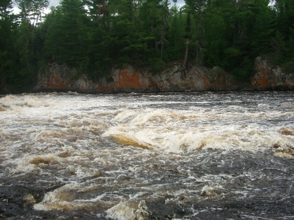 Rapids on Fall Lake in the BWCAW