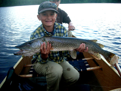 Noah's 36 inch pike on Basswood Lake
