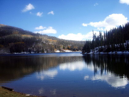 mountain lake in colorado