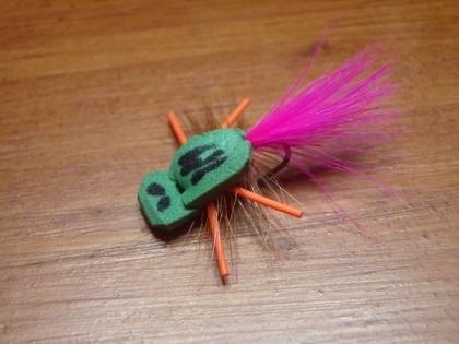 the Gartside's gurgler a great fly for topwater crappies.
