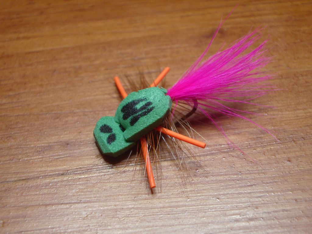 the Panfish Gurgler a great fly for topwater  panfish.