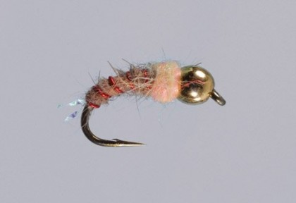 Lund's Pink Squirrel - Fly and pic by Brian Slominski, Lund's Fly Shop