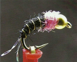 Lund's HOT Pink Squirrel - Fly and pic by Brian J Smolinski - Lund's Fly Shop