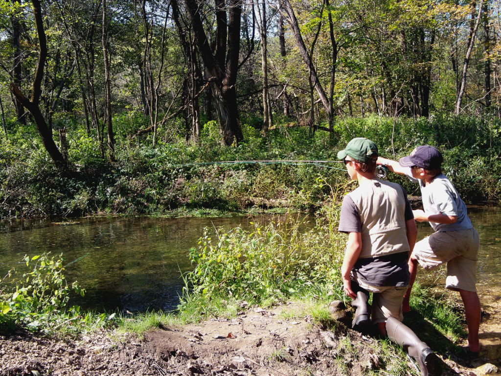 A stealthy approach is critical for chasing trout in skinny water
