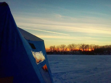 A beautiful end to a good day on the ice.